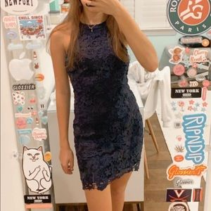 Lulu's blue lace dress